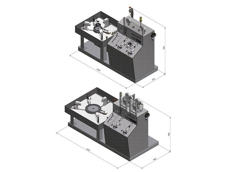 Ventilprüfstand SV 50/200 & 400 - Abmessungen