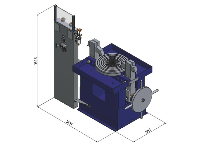 Ventilprüfstand SVM 20/400 - Abmessungen