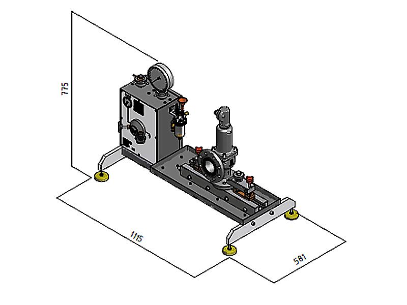 Ventilprüfstand SVM 4/100 - Abmessungen