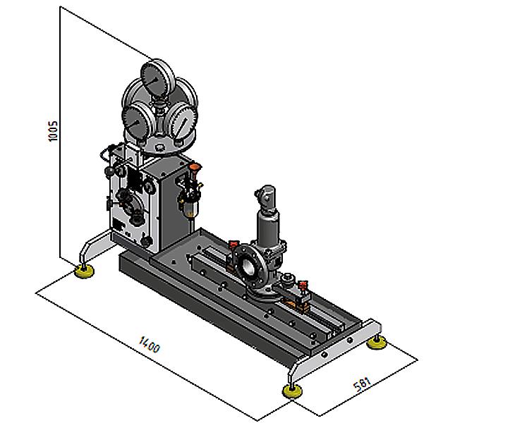 Ventilprüfstand SVM 4/250 - Abmessungen