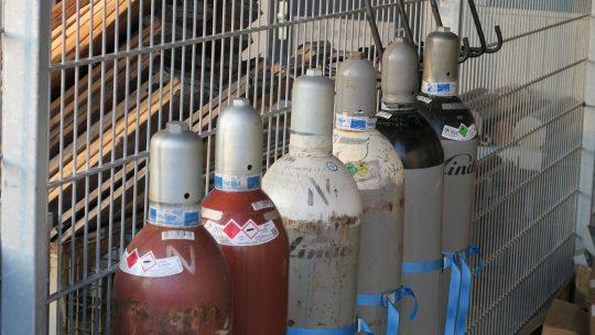 Armaturenprüfstand - Stickstoffflaschen